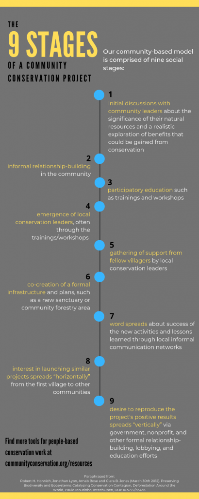 Preview of 9 Stages of Community Conservation how-to infographic