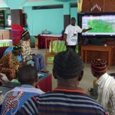 Man giving a presentation in Cameroon Africa