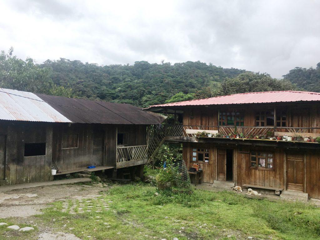 Family farm in Las Palmas, Ecuador.